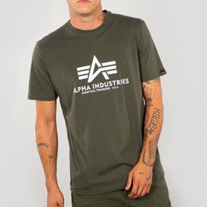 Pánské tričko Alpha Industries Basic T-Shirt Dark Olive