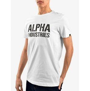 Pánské tričko Alpha Industries Camo Print Tee White