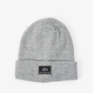 Alpha Industries X-Fit Burgundy Beanie Grey