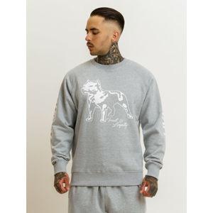 Amstaff Logo 2.0 Sweatshirt - grau/weiß