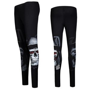 Blood In Blood Out Blood Skull Hat Black Leggings