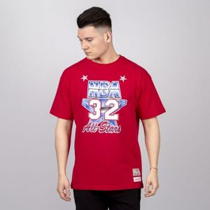 Mitchell & Ness All Star West #32 Magic Johnson T-shirt red NBA Name & Number Tee