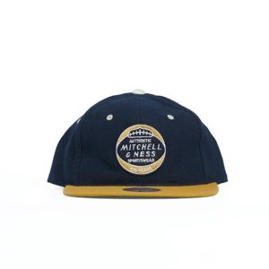 Mitchell & Ness cap Heritage Patch Leather Snapback navy