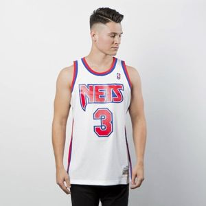 Mitchell & Ness New Jersey Nets #3 Drazen Petrovic white Swingman Jersey