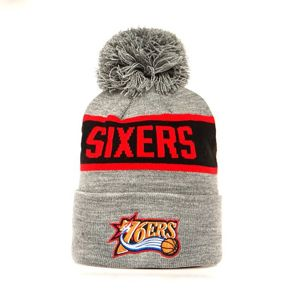 Mitchell & Ness Philadelphia 76ers Beanie grey/black Team Tone Knit