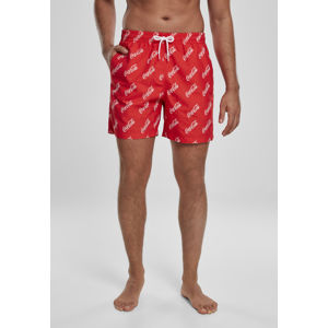 Mr. Tee Coca Cola Logo AOP Swimshorts red