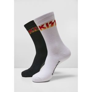 Mr. Tee Kiss Socks 2-Pack black/white