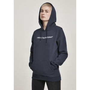 Mr. Tee Ladies I broke Hoody navy