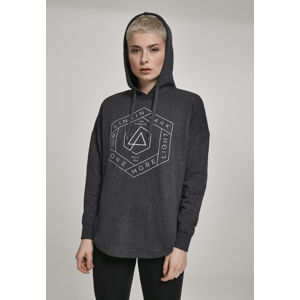 Mr. Tee Ladies Linkin Park OML Oversize Hoody charcoal