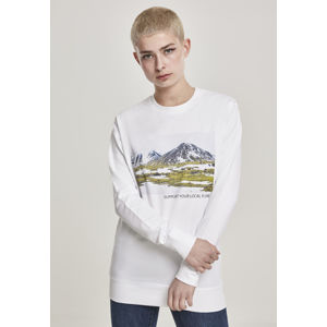 Mr. Tee Ladies Local Planet Crewneck white