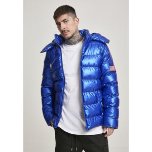 Mr. Tee NASA Insignia Metallic Puffer Jacket blue