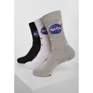 Mr. Tee NASA Insignia Socks 3-Pack black/grey/white