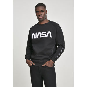 Mr. Tee NASA Wormlogo Rocket Tape Crewneck black
