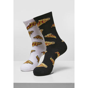 Mr. Tee Pizza Slices Socks 2-Pack black/white