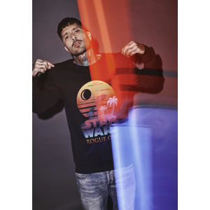 Mr. Tee Rogue One Logo Sunset Crewneck black