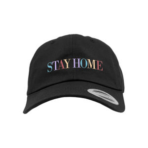 Mr. Tee Stay Home EMB Dad Cap black