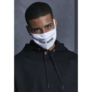 Mr. Tee Stay Home Face Mask white