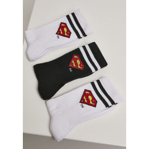 Mr. Tee Superman Socks 3-Pack wht/blk/wht