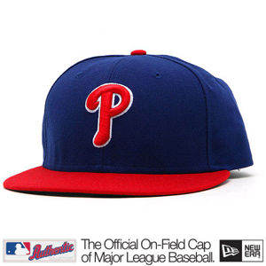 New Era Authentic Philadelphia Phillies Home Alternate Cap Red Blue