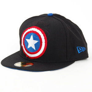 New Era Logo In Capt America Off Black