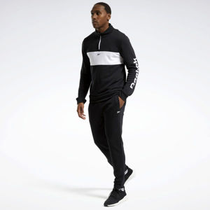 Reebok TRAINING ESSENTIALS LINEAR LOGO TRACK SUIT BLACK