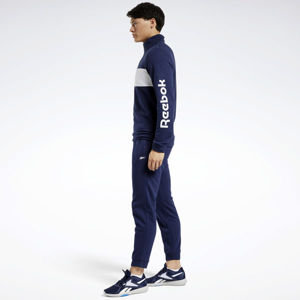 Reebok TRAINING ESSENTIALS LINEAR LOGO TRACK SUIT NAVY