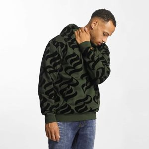 Rocawear / Hoodie Retro Velour in olive