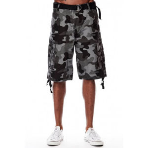 Southpole Cargo Shorts Deep Grey Black 9001-3345