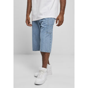 Southpole Denim Shorts with Tape mid blue