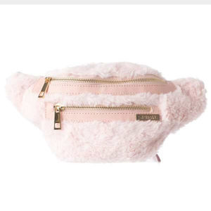 Ledvinka Spiral Faux Fur Pink BL Label Bum Bag