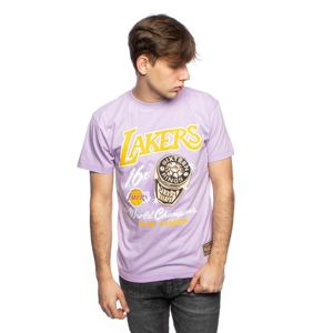 T-shirt Mitchell & Ness Los Angeles Lakers purple Pastel Rings Tee