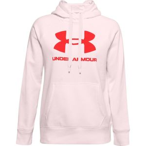 Under Armour Rival Fleece Logo Hoodie-PNK