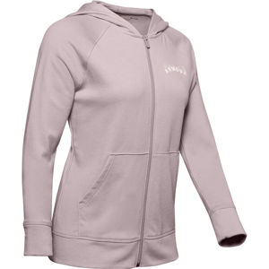 Under Armour Rival Terry FZ Hoodie-PNK