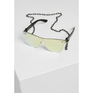 Urban Classics 103 Chain Sunglasses black/gold mirror