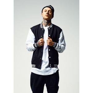 Urban Classics 2-tone College Sweatjacket black/white