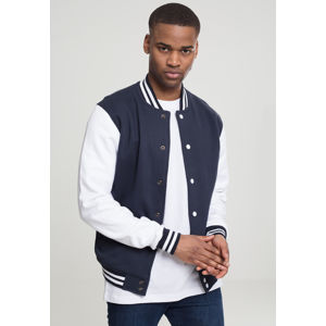 Urban Classics 2-tone College Sweatjacket nvy/wht