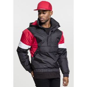 Urban Classics 3 Tone Pull Over Jacket black/fire red/white