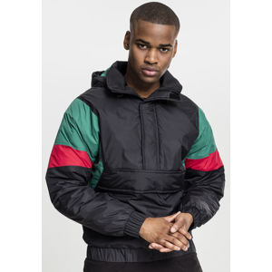 Urban Classics 3 Tone Pull Over Jacket black/green/fire red