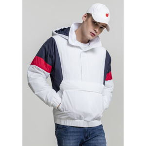 Urban Classics 3 Tone Pull Over Jacket white/navy/fire red