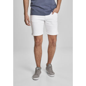 Urban Classics 5 Pockets Slim Fit Denim Shorts white