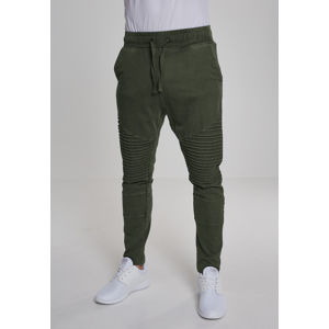 Urban Classics Acid Wash Biker Terry Pants olive