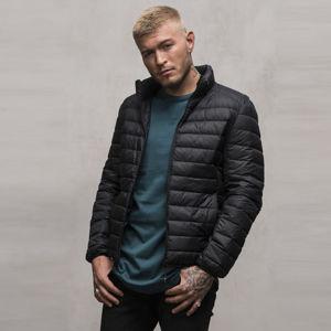 Urban Classics Basic Hooded Down Jacket black