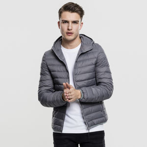 Urban Classics Basic Hooded Down Jacket darkgrey