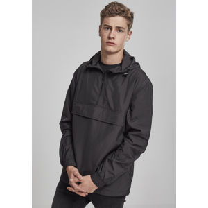 Urban Classics Basic Pull Over Jacket schwarz