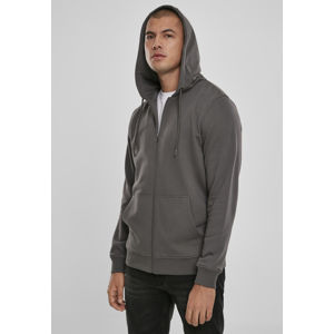 Urban Classics Basic Terry Zip Hoodie darkshadow