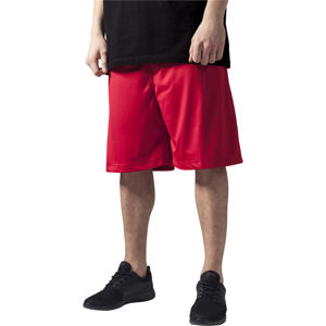 Urban Classics Bball Mesh Shorts red