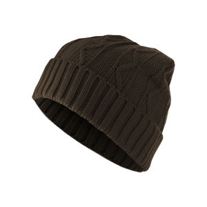 Urban Classics Beanie Cable Flap chocolate