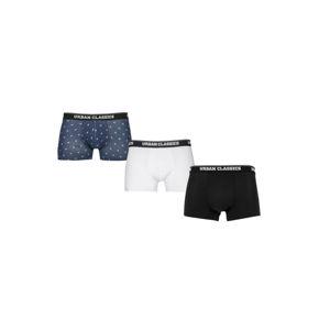 Urban Classics Boxer Shorts 3-Pack flamingo aop+wht+blk