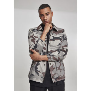 Urban Classics Camo Cotton Coach Jacket grey camo