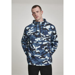 Urban Classics Camo Pull Over Windbreaker blue camo